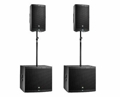 2x JBL EON610 Powered Speaker Active Monitor + 2x EON618S Subwoofer + Sub Poles • 1,842.48£