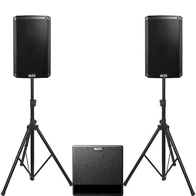 Complete Alto Active Speaker System 3000 Watts 2 X TS310 1 X TX212S, Stands, Bag • 839£