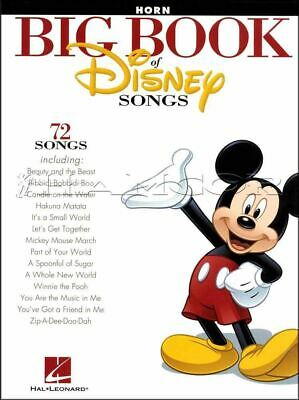 Big Book Of Disney Songs F Horn Sheet Music Book 72 Tunes SAME DAY DISPATCH • 12.40£