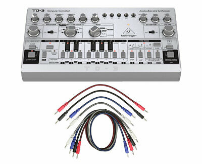 Behringer TD-3-SR Analog Bass Line Synthesizer Synth + 8pk Mono Patch Cables • 120.60£