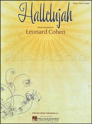 Hallelujah Piano Vocal Guitar Music and Words by Leonard Cohen Sheet Music