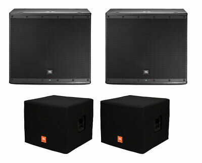 2x JBL EON618S Active Subwoofer Powered Sub Speaker + Covers • 1,374.92£