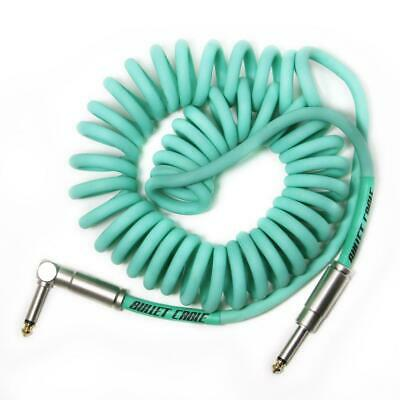 Bullet Cable 15′ Sea Foam Green Coil Cable
