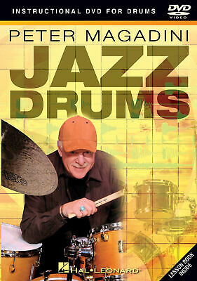 Peter Magadini Jazz Drums Lessons Learn How To Play Video Hal Leonard DVD • 20.12£