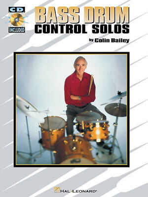Bass Drum Control Solos Sheet Music Jazz Lessons Hal Leonard Book CD Pack • 14.48£