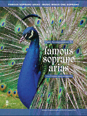 Famous Soprano Arias Vocal Sheet Music Minus One Sing-Along Book CD Pack • 16.40£