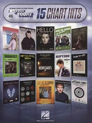 15 Chart Hits Keyboard Easy Music Book E-Z Play Today Vol 46 Adele Coldplay EZ • 9.95£