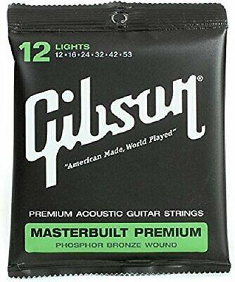 Strings Spare Parts Acoustic Guitar Gibson Coated Phosphor Bronze SAG-MB12 12-53 • 13.47£