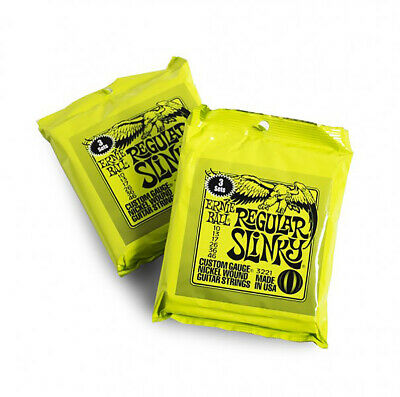 Ernie Ball 3221 Regular Slinky 2221 Electric Guitar Strings 10-046 Offer X6 Sets • 34.95£