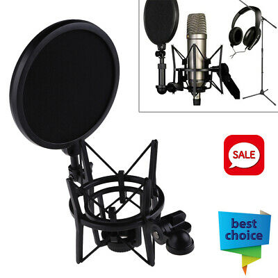 Microphone Suspension Mic Professional Shock Mount W/ Filter For Rode K2 NT1-A • 10.29£