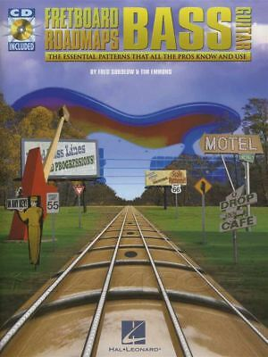 Fretboard Roadmaps Bass Guitar TAB Music Book with CD Essential Patters