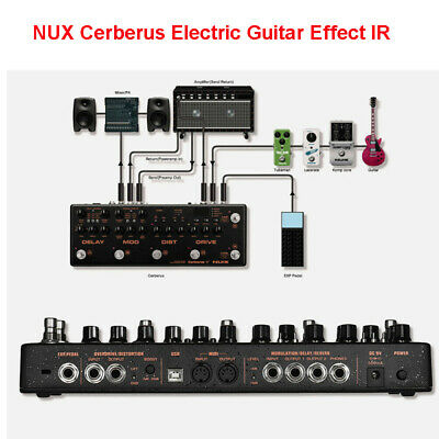 NUX Cerberus Electric Guitar Integrated Modulation Analog Effects & Controller • 220.99£