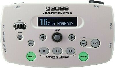 BOSS Vocal Performer White VE-5-WH New In Box • 222.81£