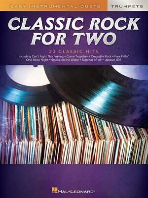 Classic Rock for Two Trumpets Easy Instrumental Duets 2 Trumpets  Book Only HL00