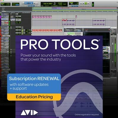 Pro Tools 1-Year Subscription Renewal - Education ESD   Software Electronic Prod • 78.95£