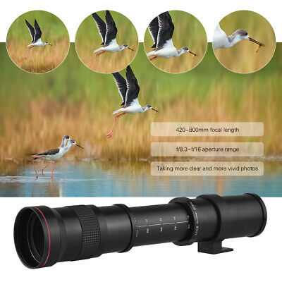 Super Telephoto Manual Zoom Lens 42-80cm F/8.3-16 T-Mount For Canon EOS 80D V6N8 • 86.02£