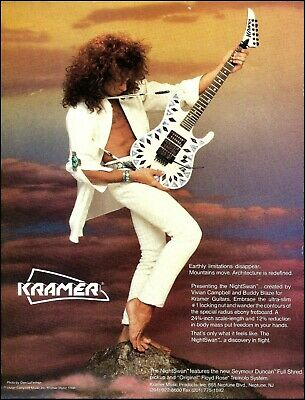 Vivian Campbell 1988 Kramer NightSwan Guitar Ad 8 X 11 Advertisement Print • 3.14£