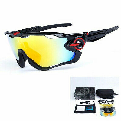 OBAOLAY Goggles Polarized Cycling Bike Sunglasses 5PCS Jawbreaker Lens Glasses • 14.39£