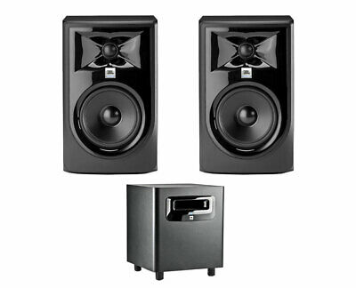 2x JBL 305P MkII 5  2-Way Active Speaker Powered Monitor + LSR310S Subwoofer Sub • 507.63£