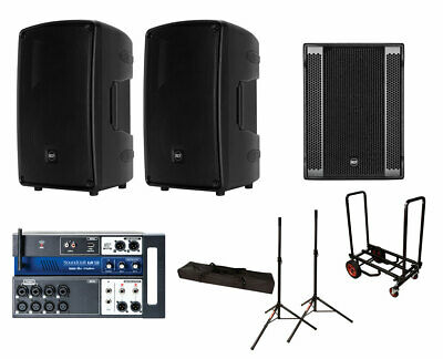 2x RCF HD 32-A MK4 + RCF SUB 8003-AS II + Soundcraft Ui12 + Stands + Cart • 3,064.24£