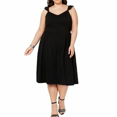 CITY STUDIO NEW Women's Plus Size Lace-trim Midi Fit & Flare Dress TEDO • 8.70£