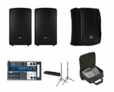 2x RCF HD 12-A MK4 Active Speaker W/ Covers + Soundcraft Ui12 W/ Bag + Stands • 1,031.39£