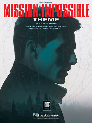 Mission Impossible Movie Theme For Easy Piano Solo Sheet Music Hal Leonard • 2.80£