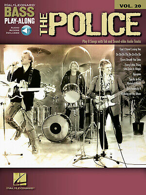 The Police Bass Play-Along Vol 20 Bass Guitar Notes Tab Sheet Music Book & Audio • 13.74£