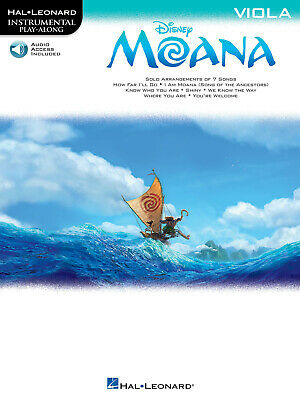 Moana Disney Movie For Viola Solo Sheet Music Play-Along Song Book Online Audio • 9.40£