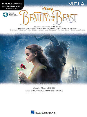 Beauty And The Beast Disney Movie Viola Solo Sheet Music Play-Along Book & Audio • 9.40£