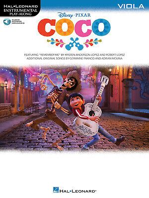 Coco Disney Movie 2017 For Viola Solo Sheet Music Play-Along Book Online Audio • 9.40£