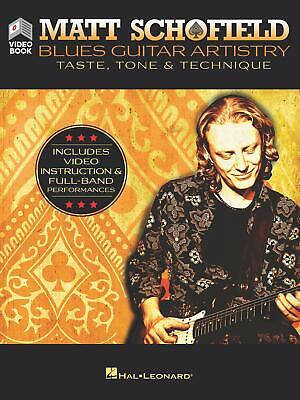 Matt Schofield Blues Guitar Artistry Taste Tone Learn How To Play Tab Book Video • 21.45£
