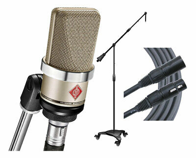 Neumann TLM102 - Nickel Microphone + Ultimate MC-125 Stand + Mogami Gold Cable • 610.97£