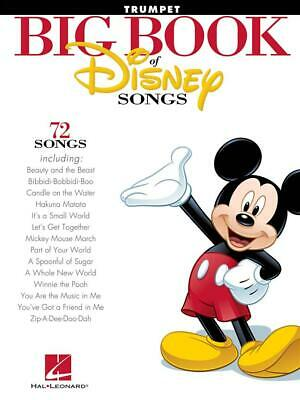 The Big Book Of Disney Songs - Trumpet Trumpet Sheet Music Instrumental Album • 10.75£