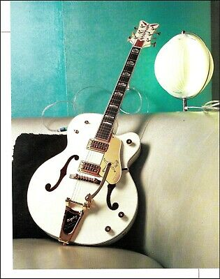 Gretsch G6136T White Falcon Guitar With Bigsby 2004 Pin-up Photo 8 X 11 Print • 2.76£