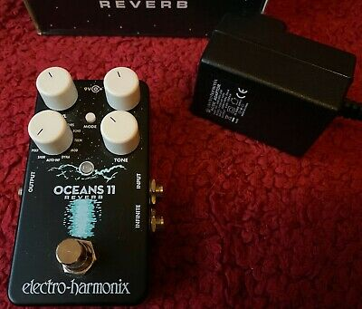 Electro Harmonix Oceans 11 Reverb - Boxed With Power Supply - Guitar Effect... • 47£