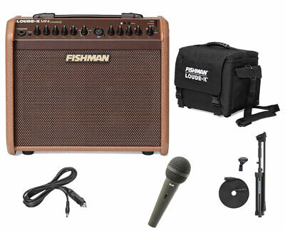 Fishman Loudbox Mini Charge + Cover + Charger + CAD 12 Mic + Mic Stand & Cable • 420£