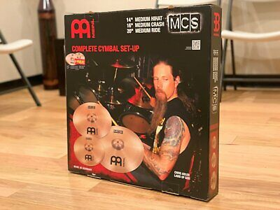 Meinl MCS 3 Piece Complete Cymbal Set W/FREE 14  Classic China And 10  Splash • 231.96£