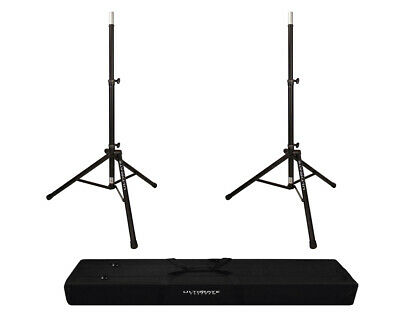 2x Ultimate Support TS-80B Lift-Assist Speaker Stand + Carry Bag 90D • 123.63£
