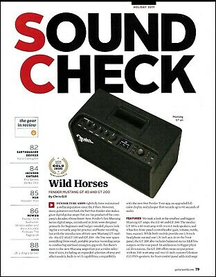 Fender Mustang GT 40 & 200 Amp Two-page Guitar Amplifier Review Article • 3.03£