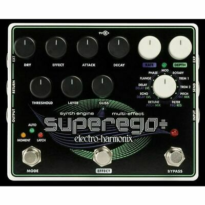 Electro Harmonix Superego+ Synth Engine & Multi Effect Pedal • 199.73£