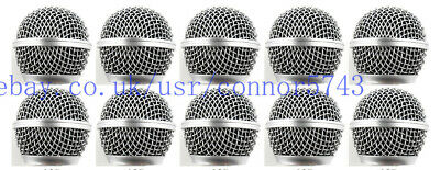 10pcs Ball Head Mesh Microphone Grille Fit For Shure SM58S SM58LC BETA58 BETA58A • 26.99£