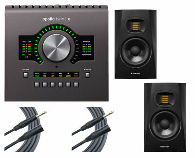 Universal Audio Apollo Twin X Duo Audio Interface + 2x ADAM T5V + 2x Mogami • 936.67£