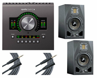 Universal Audio Apollo Twin X Duo Audio Interface + 2x ADAM A5X + 2x Mogami • 1,198.94£