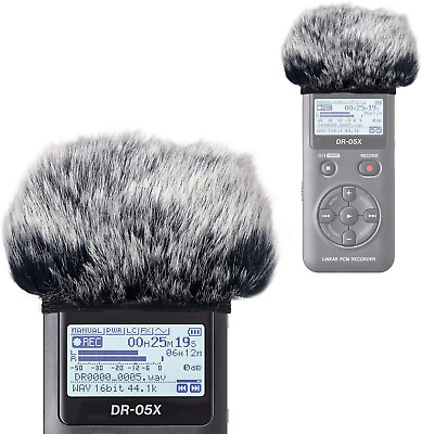 DR05X Windscreen Muff For Tascam DR-05X DR-05 Portable Recorders, DR05X Mic Fur • 11.32£