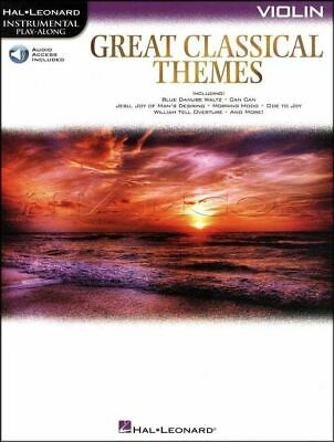 Great Classical Themes Violin Play-Along Music Book/Audio SAME DAY DISPATCH • 10.69£
