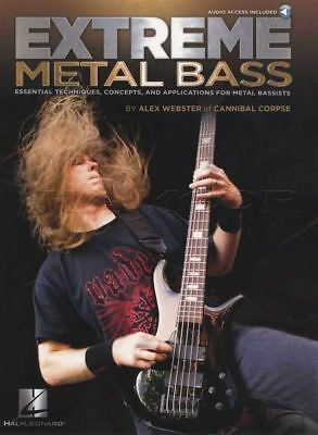 Extreme Metal Bass Guitar TAB Book & Audio by Alex Webster Cannibal Corpse