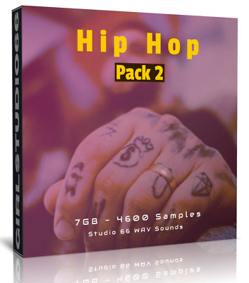 Hip Hop Pack 2 Wav Samples & Loops For Ableton, FL Studio, Logic, Bitwig, Cubase • 3.20£