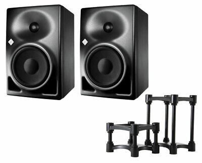 2x Neumann KH120A KH 120A Active Speakers + IsoAcoustics ISO-155 Stands (Pair) • 1,002.19£