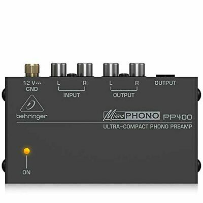 Behringer PP400 Microphono Ultra Compact Phono Preamp Assorted Colour • 26.89£